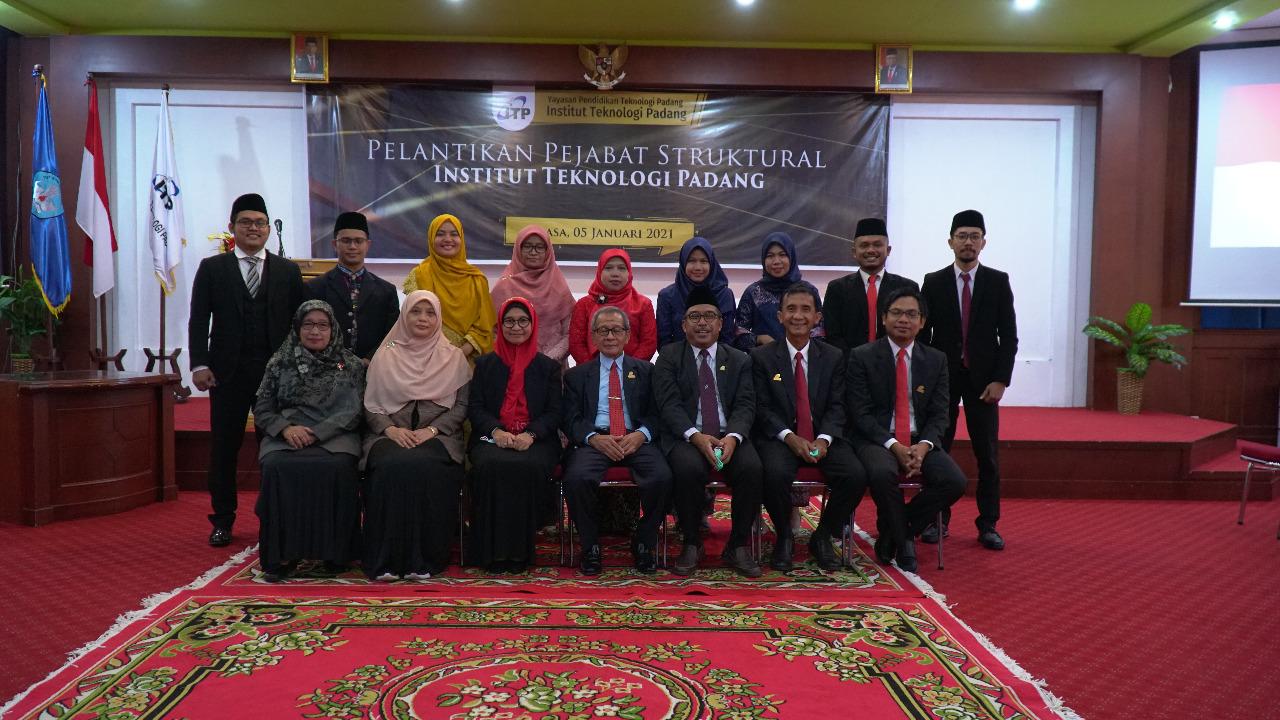 Rektor ITP Lantik Pejabat Struktural, Didominasi Anak Muda